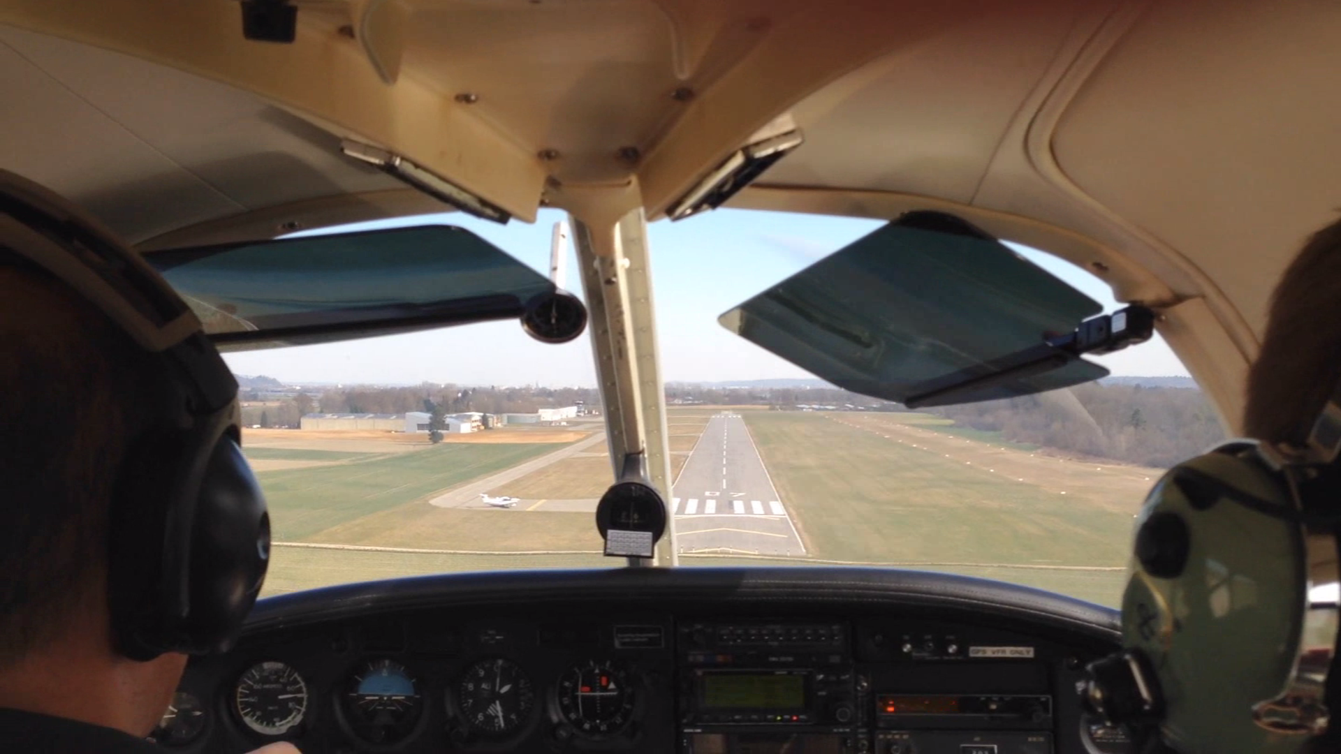 Landing approach at the end of a test flight.